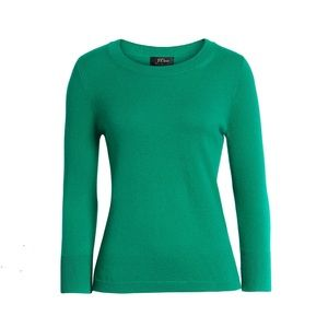 J. Crew Collection Green 100% Cashmere Sweater